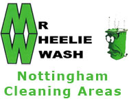 Wheelie bin cleaning in Nottingham and its surrounding areas